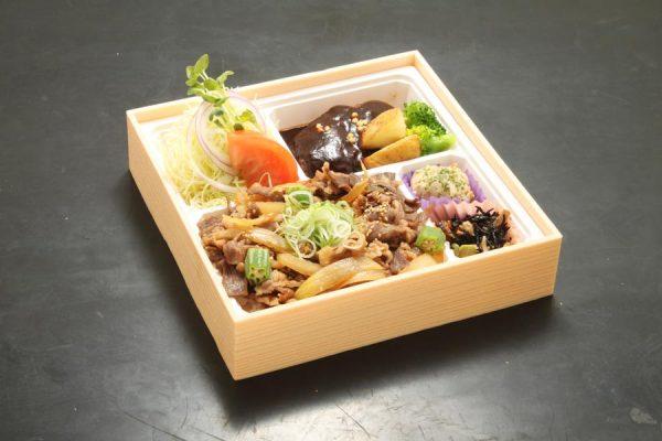 宮崎牛すき焼き重とハンバーグ弁当